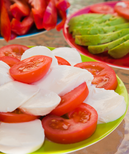 Tomato Mozzarella & Basil salad
