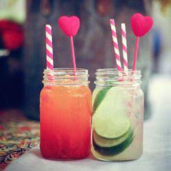 Cocktails in jam jar