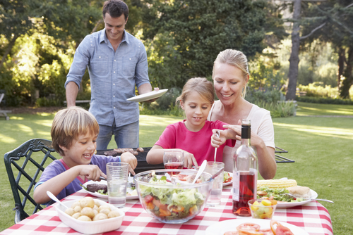 Family at a BBQ