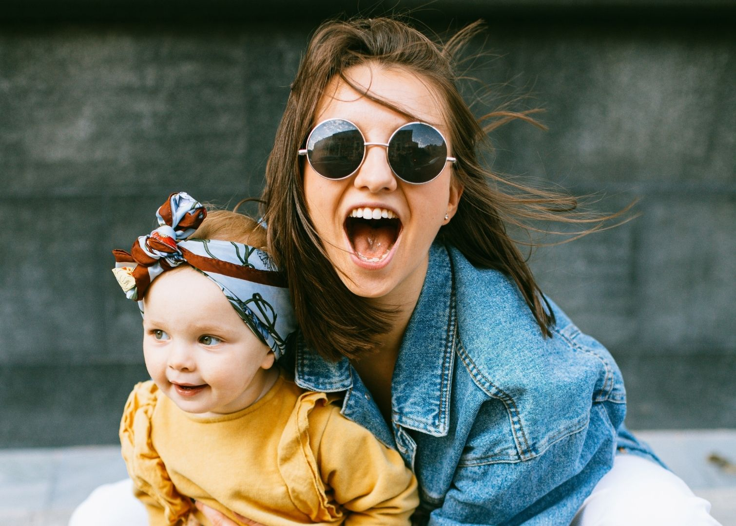 Happy mum with child